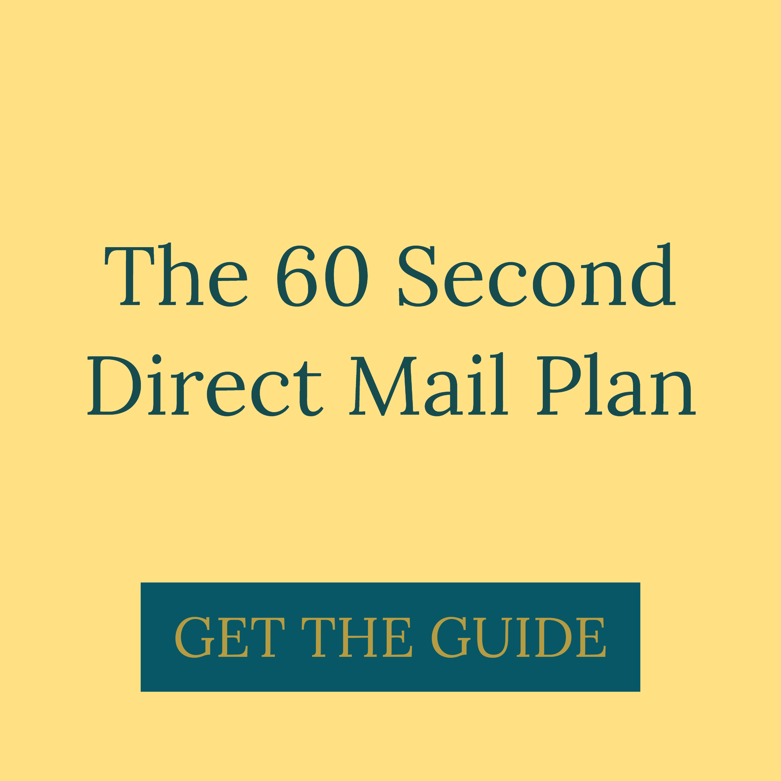 60 Second Direct Mail Plan